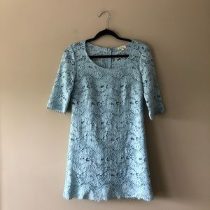 Shoshanna baby blue lace dress